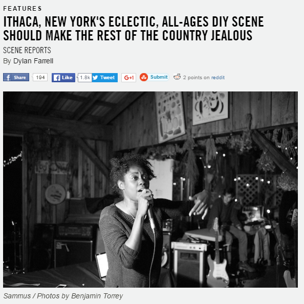 ITHACA, NEW YORK'S ECLECTIC, ALL-AGES DIY SCENE SHOULD MAKE THE REST OF THE COUNTRY JEALOUS